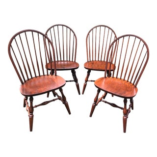 Hitchcock Bowback Windsor Sidechairs - Set of 4 For Sale