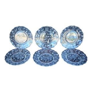 Vintage Glass Dessert Plates - Set of 6