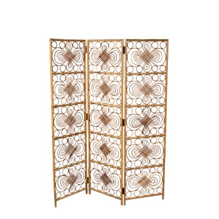 Rattan Folding Screen For Sale