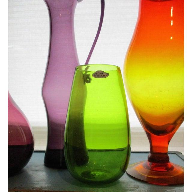 Blenko Green Art Glass Vase - Image 6 of 10