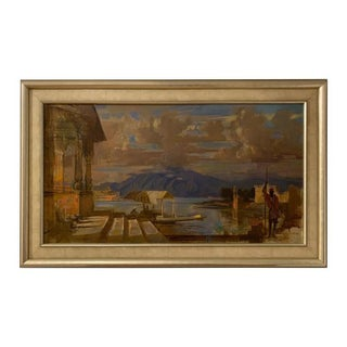 Adolf F. Konrad Morocco Oil Painting on Canvas 'Newark, Asbury Park, 1915-2003' For Sale