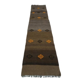 Mid 20th Century Anatolian Turkish Antalya Kilim Runner- 2′7″ × 10′ For Sale