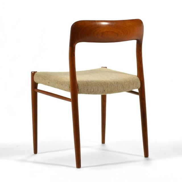 Niels O. Møller Set of Six Model 75 Chairs For Sale In Chicago - Image 6 of 9
