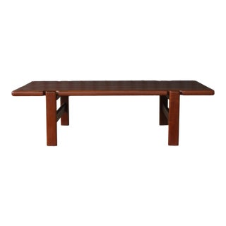 Solid Teak Coffee Table, Denmark, 1960s For Sale