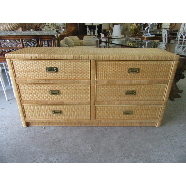Woven Dixie Island Style Dresser - Image 8 of 9