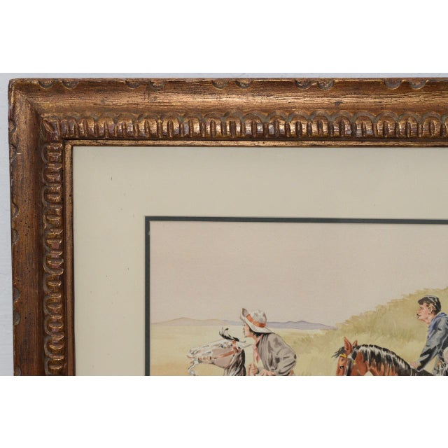 """Paint J. Thomas Soltesz (American, B.1955) """"The Couriers"""" Original Watercolor For Sale - Image 7 of 9"""