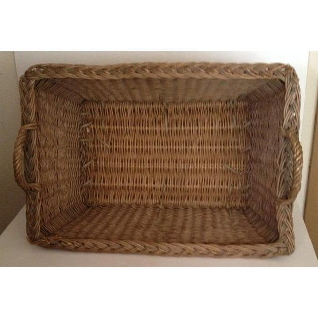 French Laundry Basket With Handles - Image 2 of 3