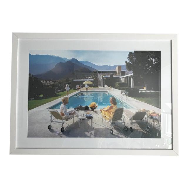 Framed Slim Aarons Poolside Gossip Print For Sale
