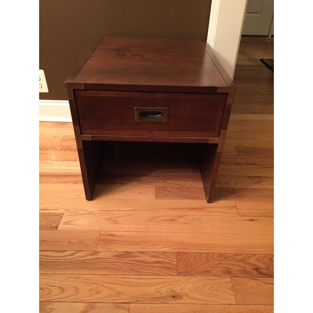 Lane Campaign Style Side Table/Night Table - Image 6 of 8