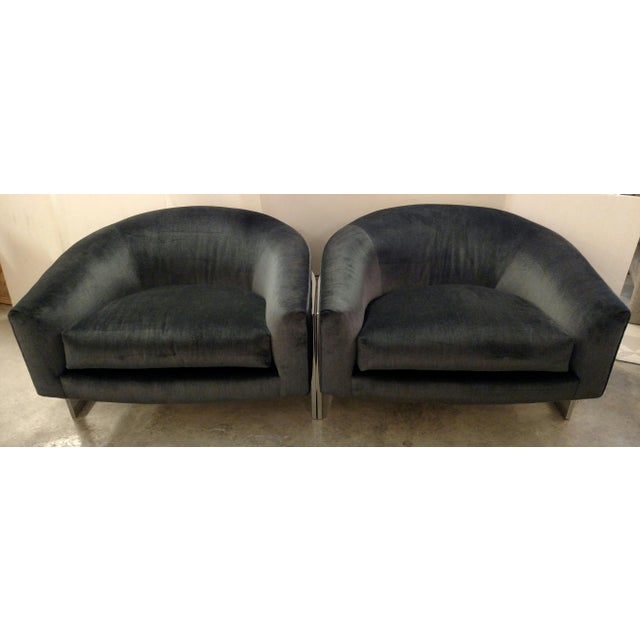 Vintage Milo Baughman Chairs - Pair - Image 3 of 7