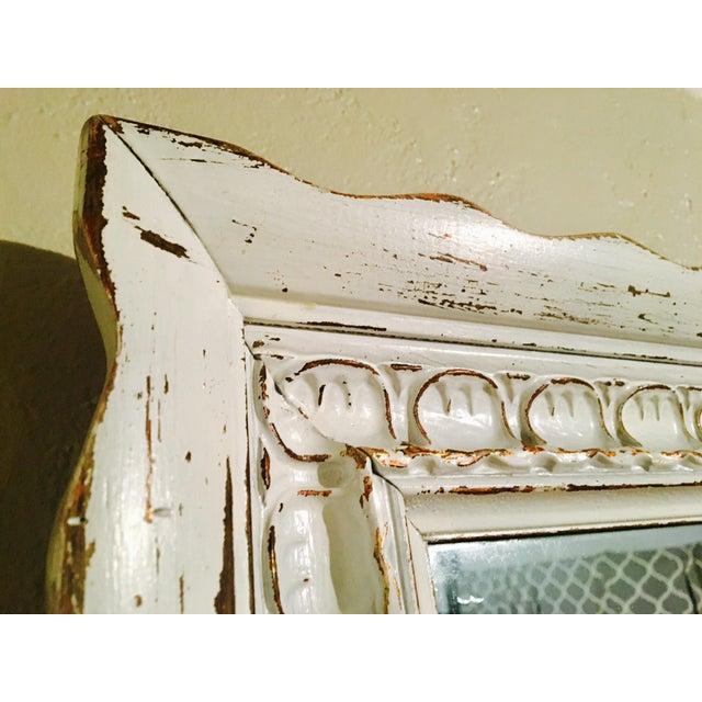 Shabby Chic White Mirror - Image 4 of 6