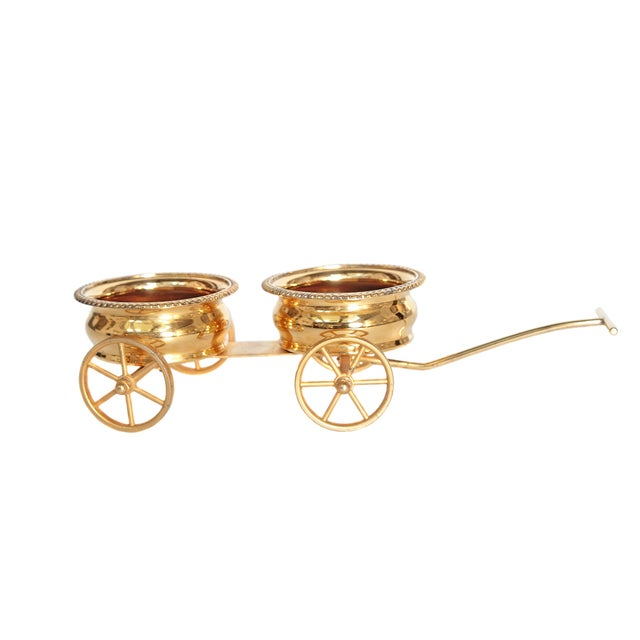 Gilt Bronze Wine Decanter Wagon Trolley - Image 11 of 11