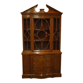 "1960's Vintage Duncan Phyfe Mahogany 44"" China Cabinet For Sale"