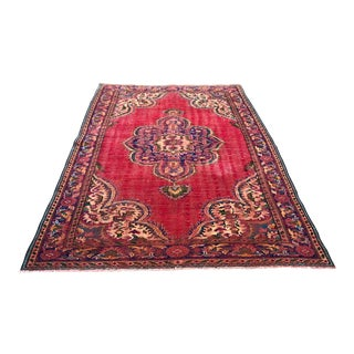 1960s Vintage Turkish Oushak Rug - 6′3″ × 8′11″ For Sale