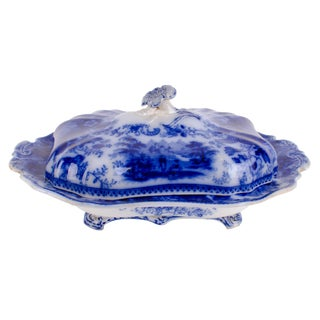 Burgess & Leigh Middleport Nonpareil Flow Blue Vegetable Tureen For Sale