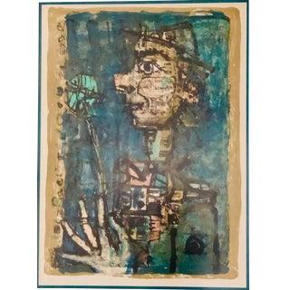 1970s Vintage Paul Aizpiri Signed Original Lithograph Print For Sale