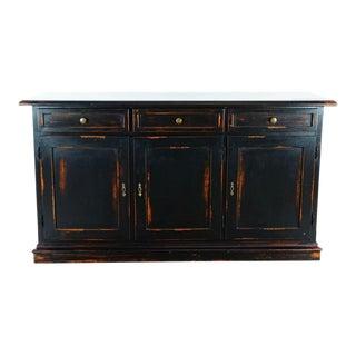 Crate & Barrel Wooden Sideboard For Sale