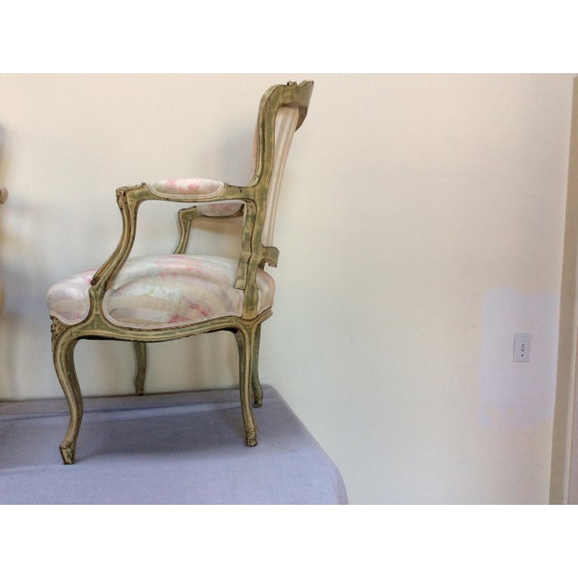 Wood Vintage French Arm Chairs - A Pair For Sale - Image 7 of 8
