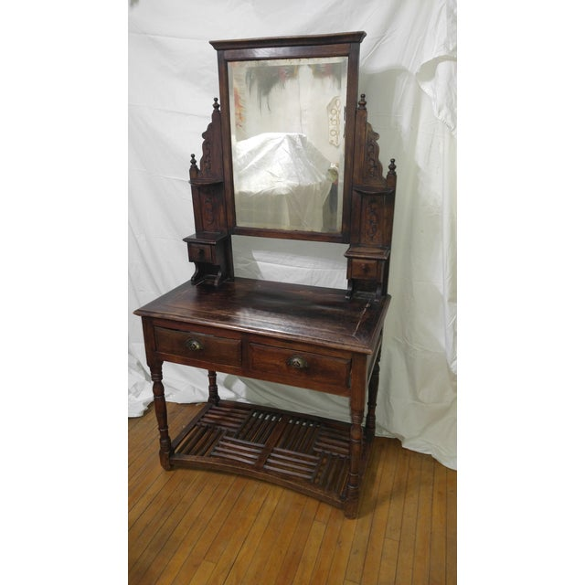 20th Century British Colonial Rose Wood Vanity For Sale - Image 10 of 10