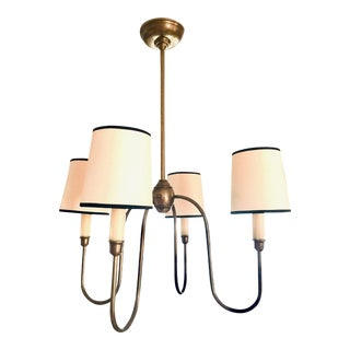 Thomas O'Brien for Visual Comfort Vendome Chandelier, Antiqued Brass/Black For Sale