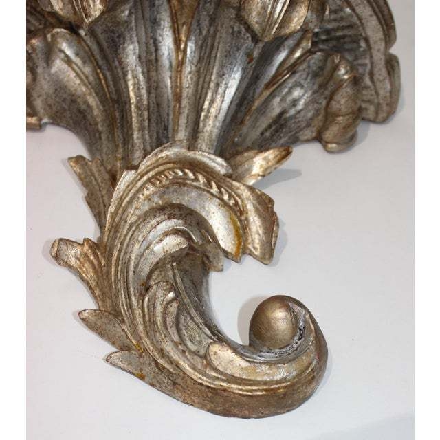 Mid-Century Louis XV Style Brackets Silver Leaf - a Pair For Sale - Image 9 of 11