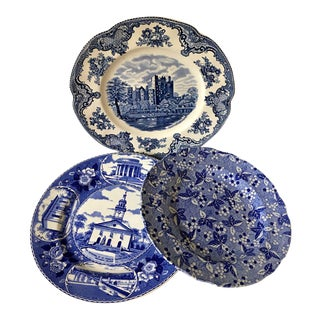Antique Spode English Transfer Ware - Set of 3 For Sale