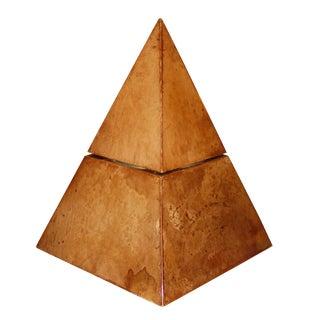 Aldo Tura Lacquered Goatskin Pyramidal Wine Cooler For Sale