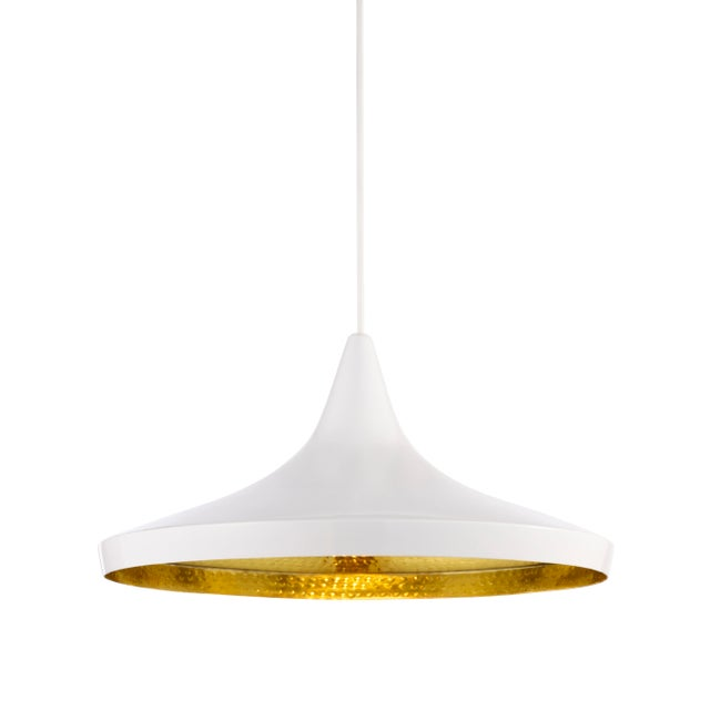 Tom Dixon Beat Wide Pendant White For Sale In Los Angeles - Image 6 of 6