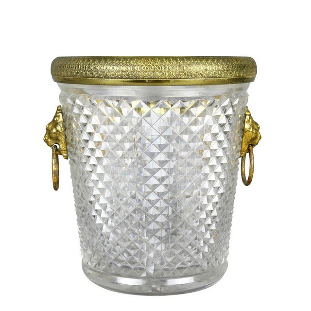 French Cut Crystal Bottle Holder or Ice Pail For Sale In Boston - Image 6 of 9