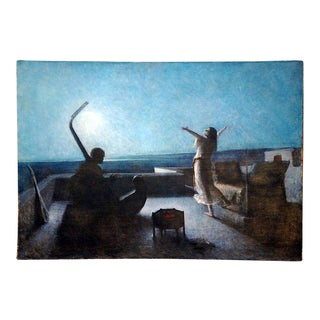 Large Orientalist Oil Painting For Sale