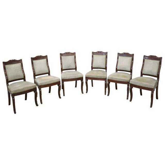 19th Century Italian Carved Mahogany Charles X Six Chairs For Sale - Image 13 of 13