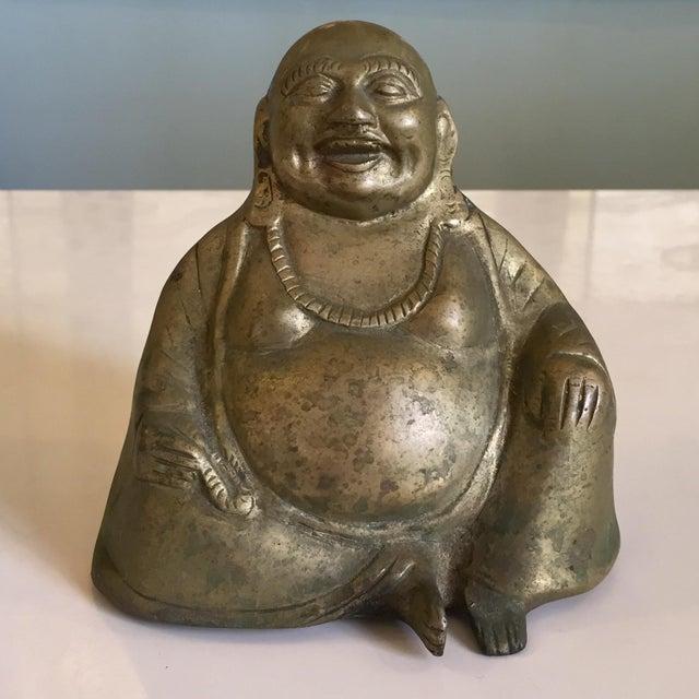 Brass Brass Buddha Figurine For Sale - Image 7 of 7