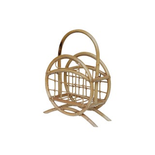 Bentwood Bamboo Magazine Rack For Sale