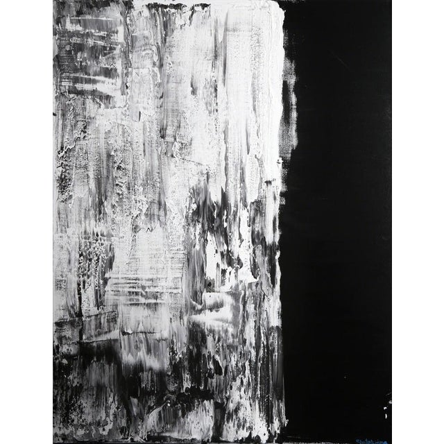Abstract Black and White Abstract For Sale - Image 3 of 3