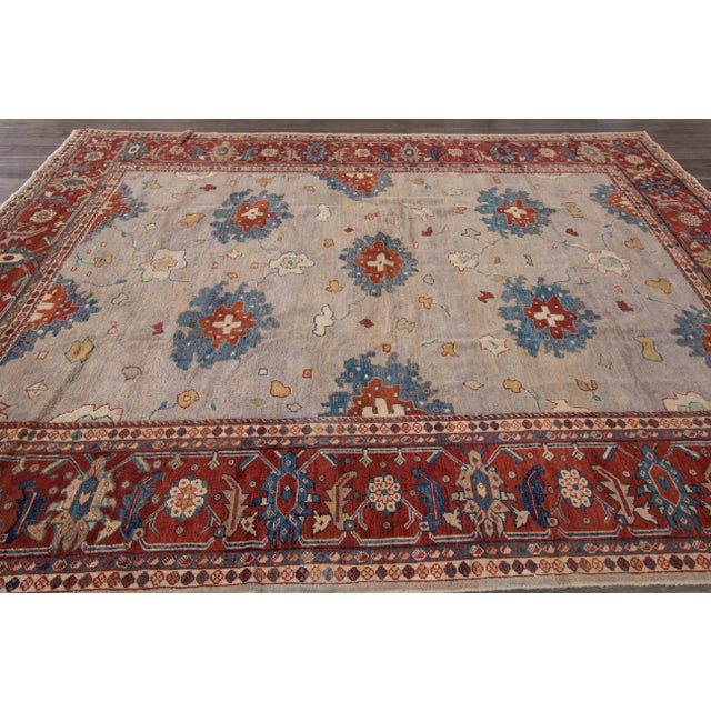 Antique hand-knotted Persian Mahal Good condition.