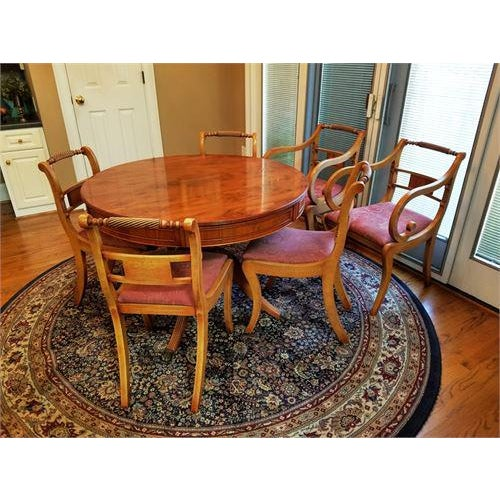1950s English Yew Mid Century Modern 42 78 Dining Table W