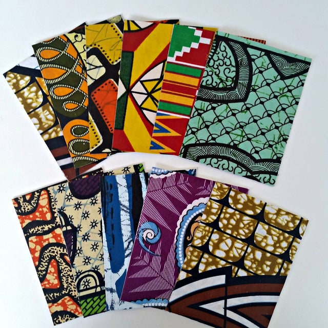 African Wax Fabric Greeting Cards - Set of 10 - Image 5 of 6