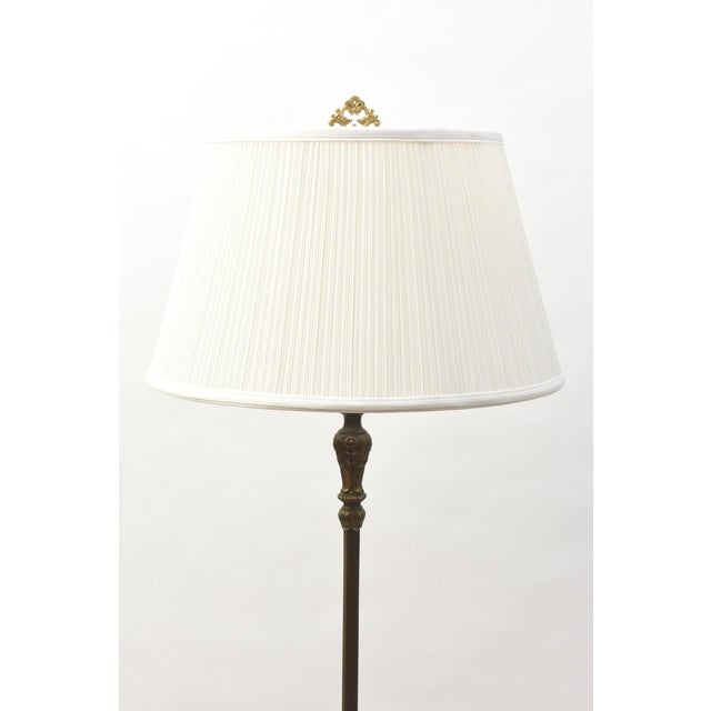 Gold Dark Bronze and Gold Floor Lamp For Sale - Image 8 of 10