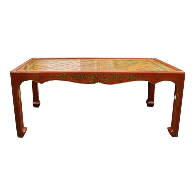 Chinoiserie Decorated Low Table For Sale