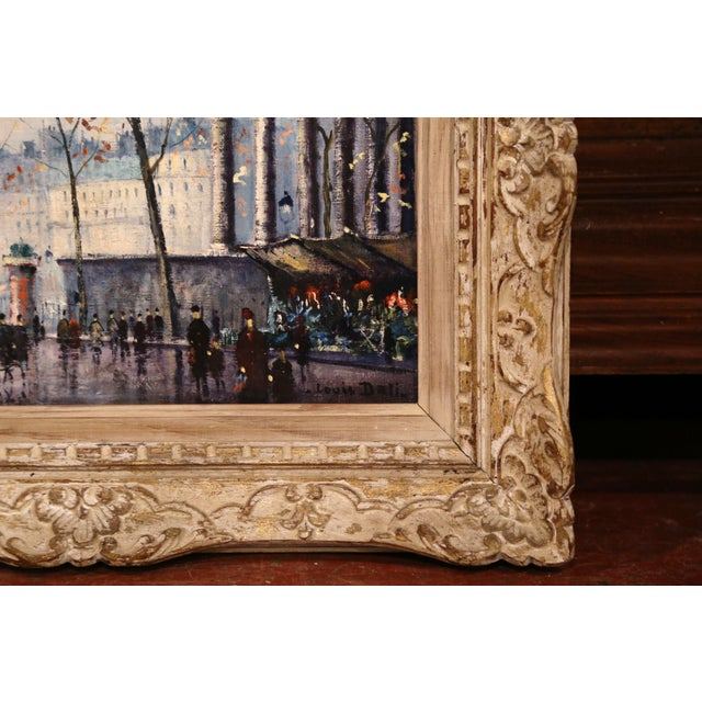 Pair of Mid-20th Century French Paris Paintings in Carved Frames Signed L. Dali For Sale - Image 10 of 12