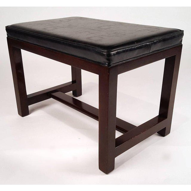 Two Pairs of Solid Mahogany Stools by Edward Wormley for Dunbar For Sale In Dallas - Image 6 of 9