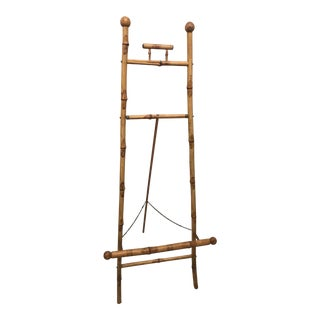 19th Century Boho Chic Bamboo Floor Display Easel For Sale