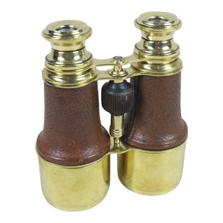 Late 19th Century English Brass Binoculars For Sale