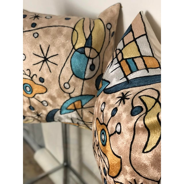 Joan Miró Pair of Modern Tapestry Pillows For Sale - Image 4 of 8