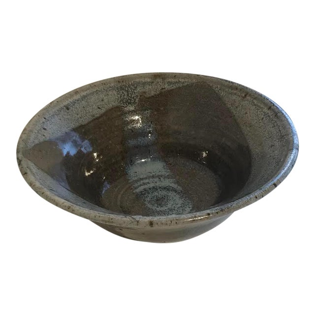 Vintage Minimalist Studio Ceramics Bowl For Sale
