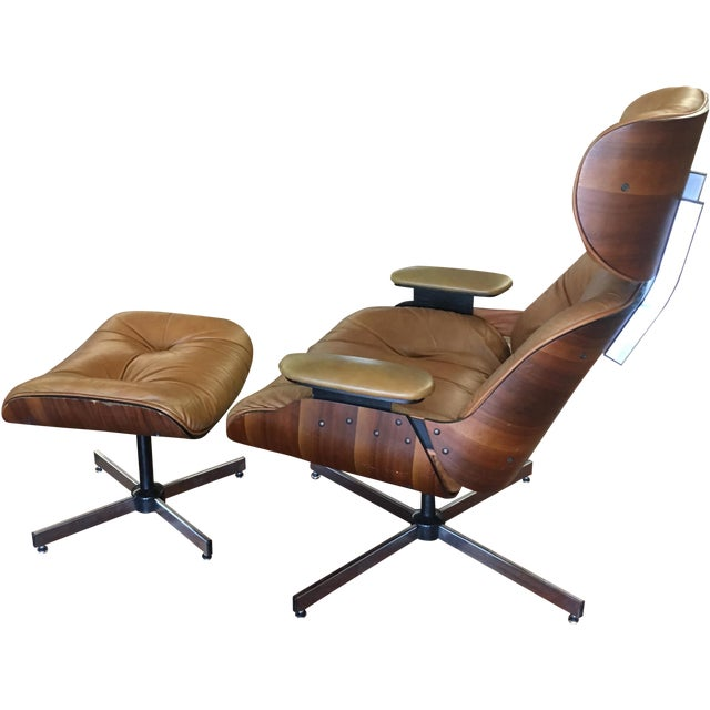 Selig Eames Style Chair & Ottoman - Image 1 of 11