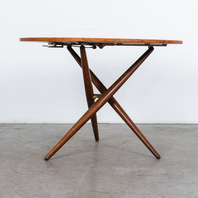 Brown Mid-Century Modern Jurg Bally Adjustable Wooden Table For Sale - Image 8 of 9