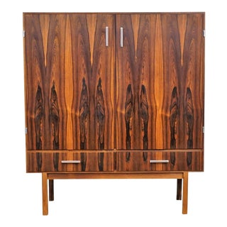Original Danish Modern Axel Christensen Rosewood Dry Bar / Credenza For Sale