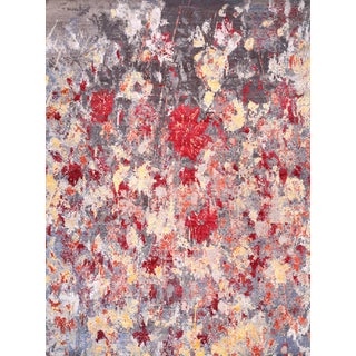 9x12 Modern Abstract Handwoven Indian Silk Rug - Free Shipping