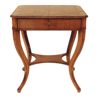 Biedermeier-Style Occasional Table With Drawer, Contemporary, High For Sale